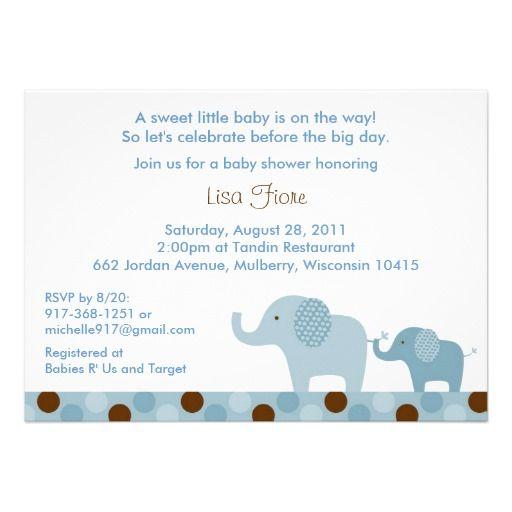 Mod elephant polka dot baby shower invitations polka dot baby mod elephant polka dot baby shower invitations filmwisefo