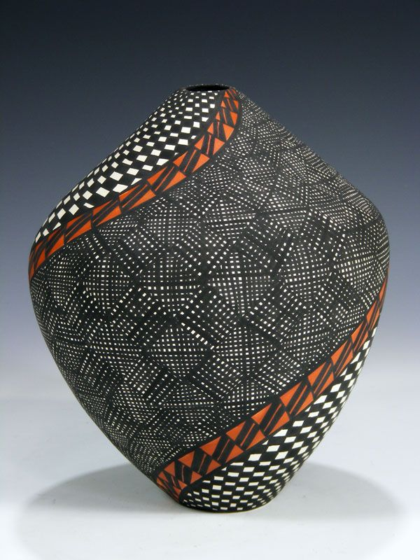 """Acoma Pueblo Hand Coiled Pottery by Sandra Victorino. 5 1/4"""" Tall, 4 1/8"""" Wide. $595.00.  http://www.pueblodirect.com/acomapottery2.html"""