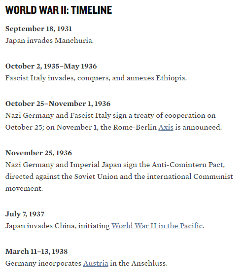 This is the beginning of WW2 timeline, there is many more