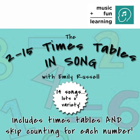 math worksheet : 2 to 15 times tables in song digital download  studio e only $6  : Multiplication Rap Songs