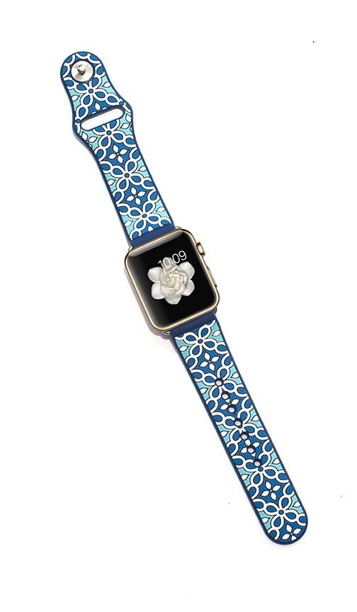 Kaleidoscopic MultiFaceted Apple Watch Band Power Aqua