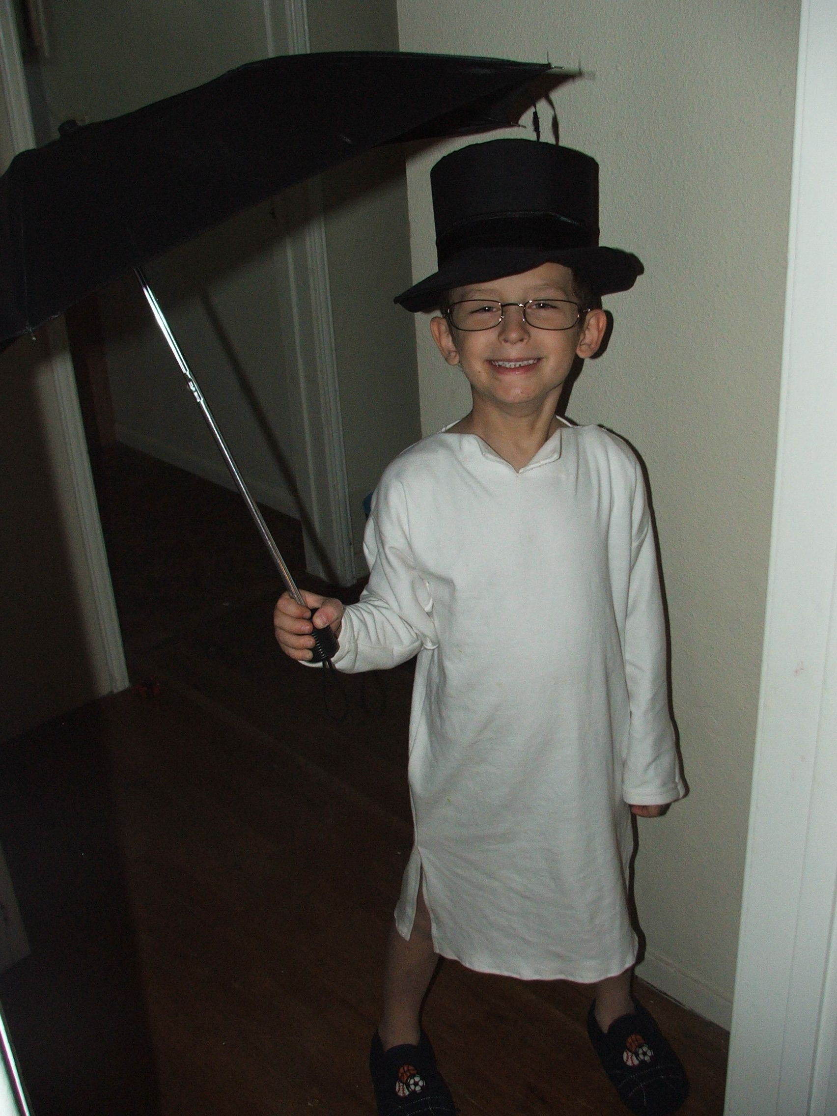 homemade halloween costume john from 39 peter pan 39 my own. Black Bedroom Furniture Sets. Home Design Ideas
