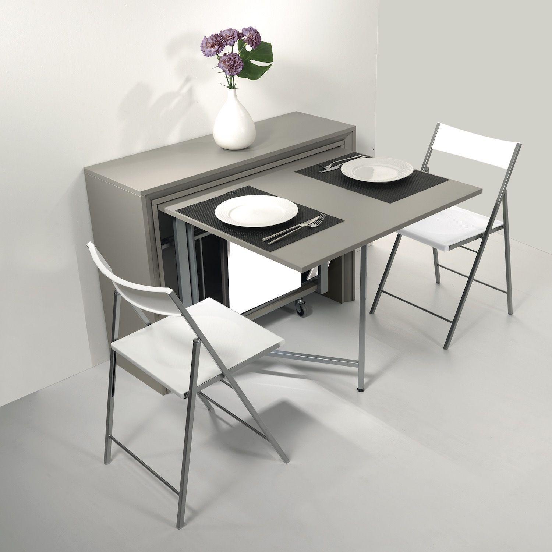 Consolle trasformabile in tavolo Archimede con sedie La