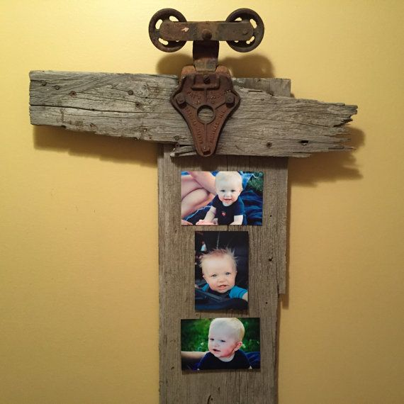 Rustic Home Decor - Vintage reclaimed barn wood wall art or picture ...