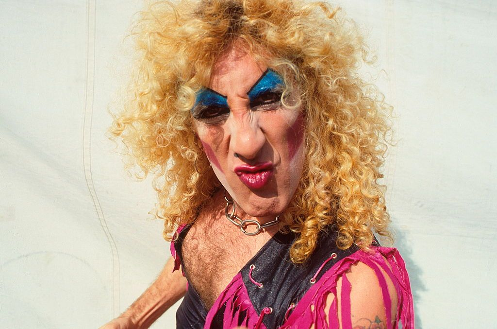 Dee Snider of Twisted Sister, portrait, backstage at