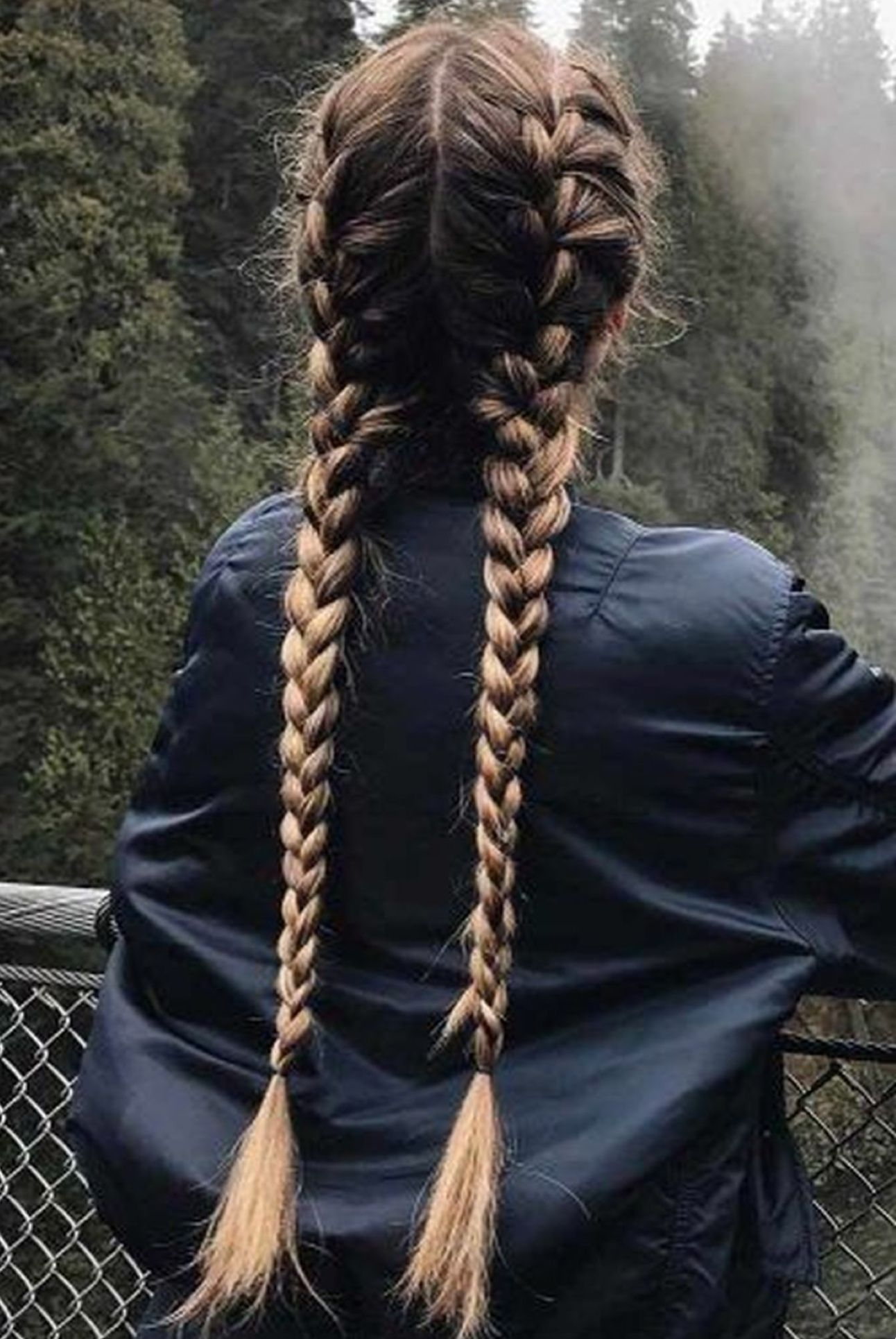 2 French Braids French Braid Hairstyles Long Hair Styles Hair Styles