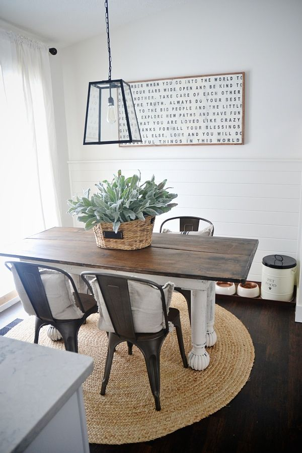 New Rustic Metal And Wood Dining Chairs Dining Room Small Farmhouse Dining Room Table Metal Dining Chairs