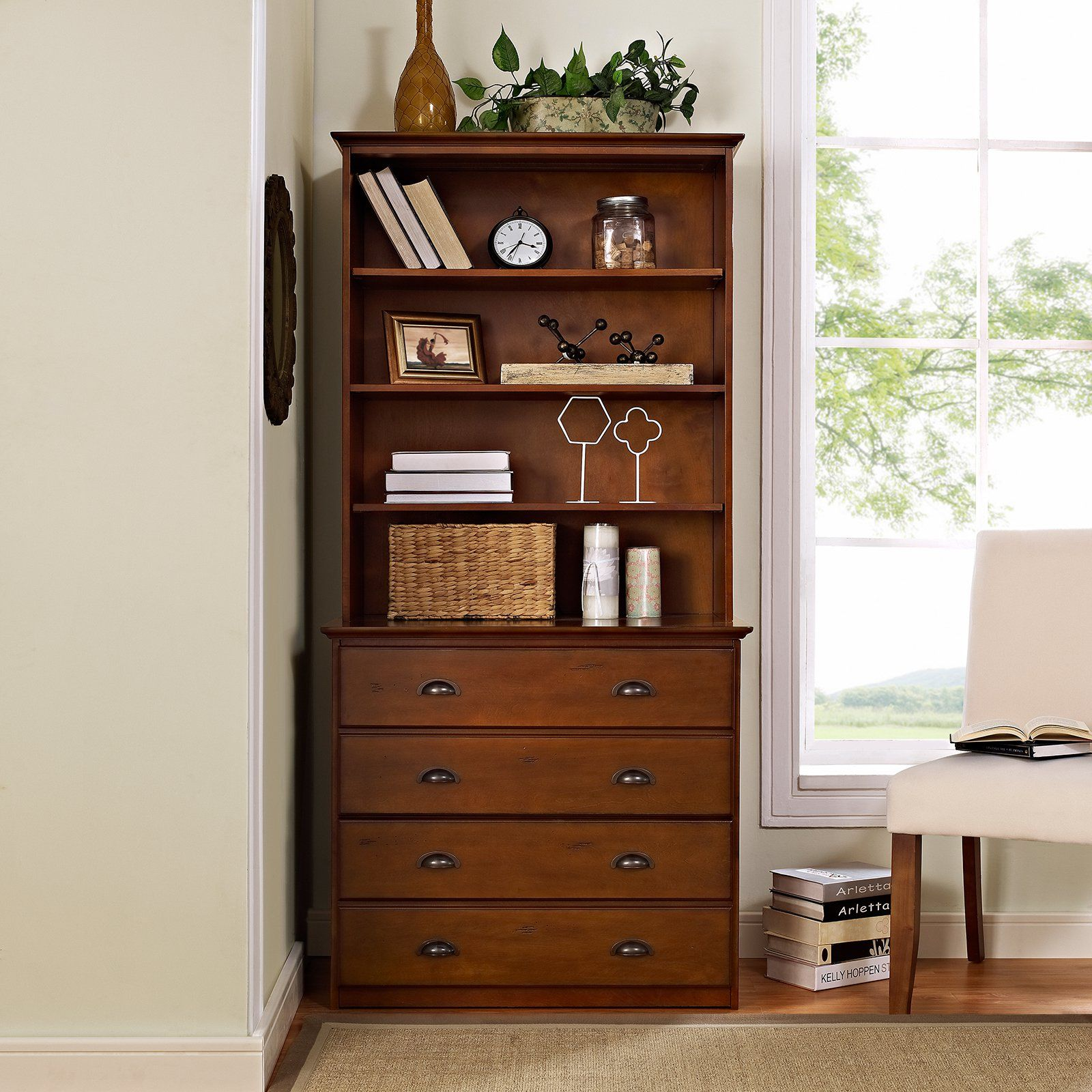 Superb Crosley Valley Forge Double File Cabinet With Optional Hutch | From  Hayneedle.com
