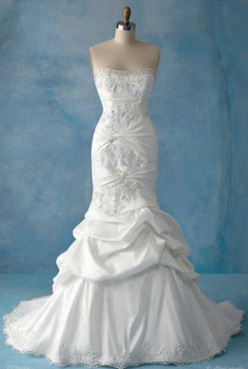 Close Up Of Ariel Wedding Dress By Alfred Angelo Ariel Wedding Dress Disney Wedding Dresses Disney Princess Wedding Dresses [ 1216 x 818 Pixel ]