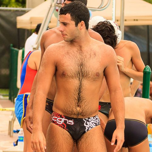 Tempted fuck shaved pubes speedos