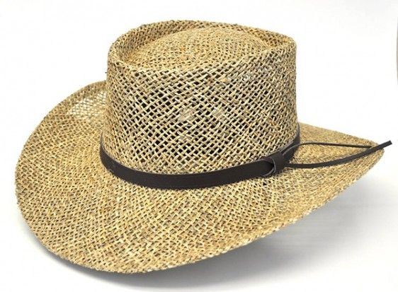 684d9e41f79 Stetson Seagrass Gambler - Bill the Hatter Made of twisted seagrass straw  Breathable and lightweight