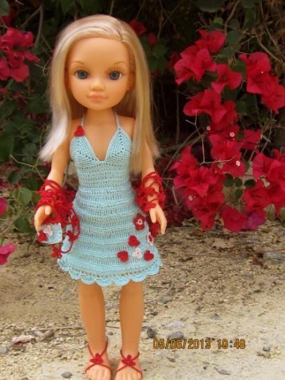 0f612d2e70 vestido de fiesta para nancy moderna perlé ganchillo