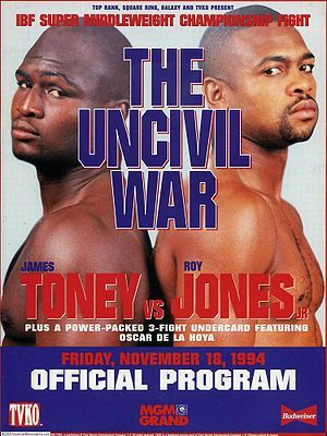 12+ Mike Tyson Vs Roy Jones Jr Official Poster