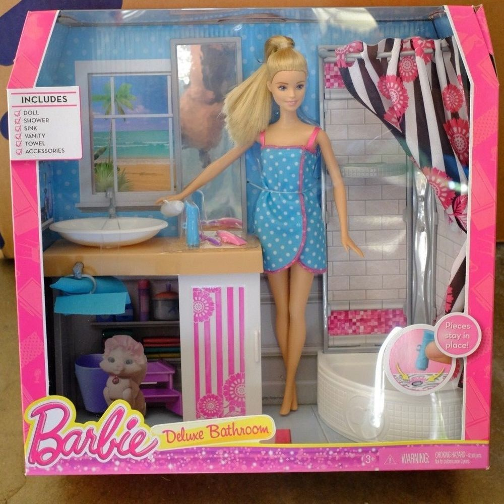Barbie Deluxe Bathroom Barbie Bedroom New Barbie Dolls