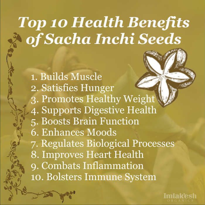 Top 10 Benefits Of Sacha Inchi Seeds Health Nutrition Mind
