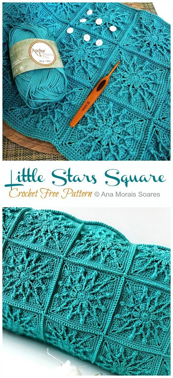 Photo of Twinkle Little Stars Square Crochet Free Pattern – Crochet & Knitting – Stricken…