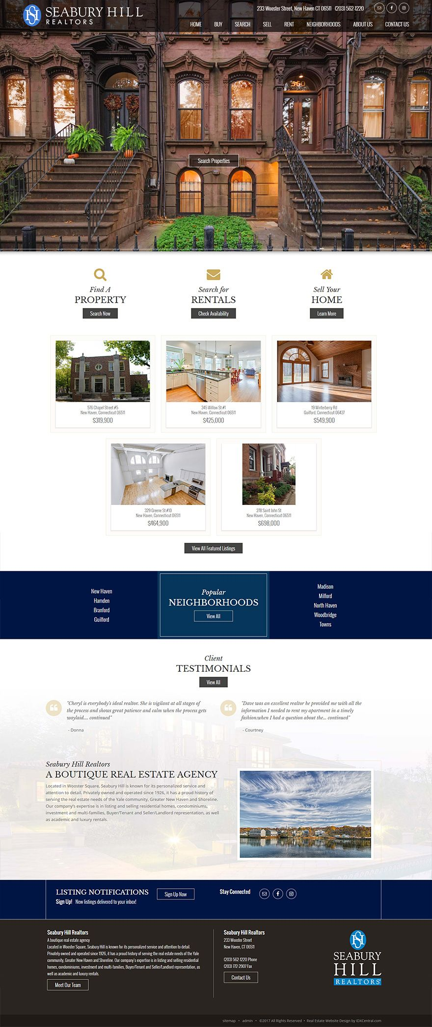 Connecticut Stunning Real Estate Website For Seabury Hill Realtors Real Estate Agency Located In Woos Real Estate Website Design Us Real Estate Real Estate