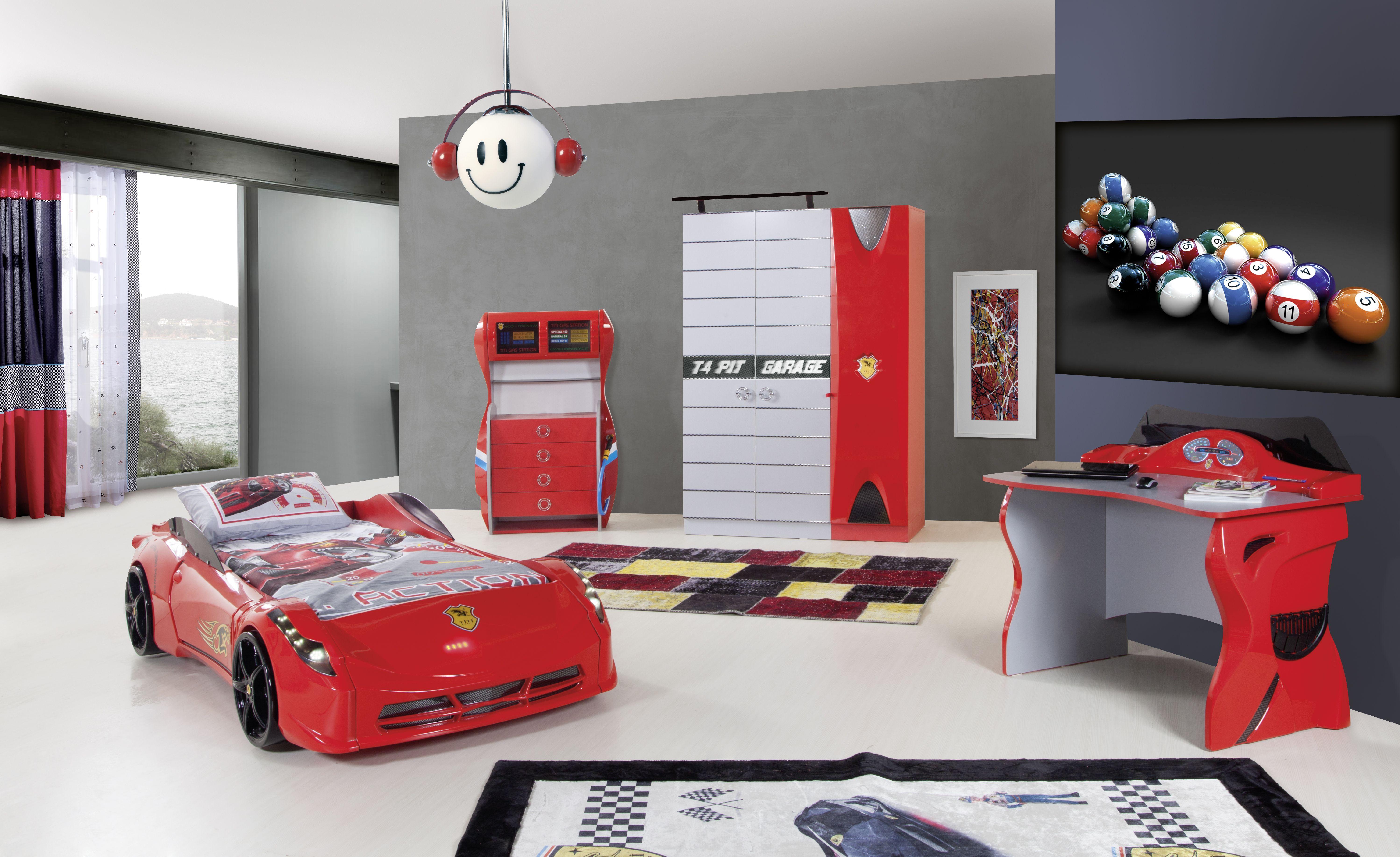Ferrari Racer Red Bedroom Set Cars Bedroom Set Cars Bedroom Decor Cars Bed Set