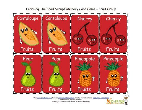Kids Matching Fruits Card Game - Printable Game for Children ...