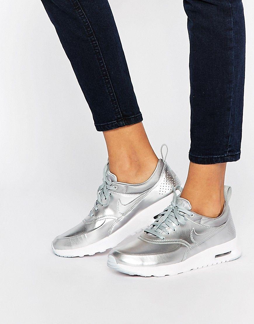 zapatillas nike plateadas mujer
