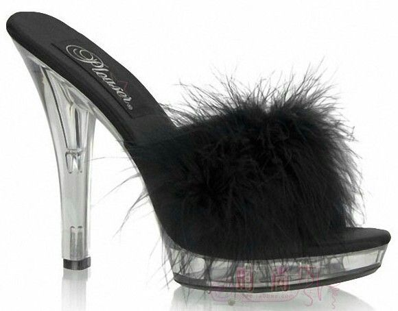 280f0c1214d Sexy fuzzy slipper for around the house. Sexy fuzzy slipper for around the  house. Black High Heels