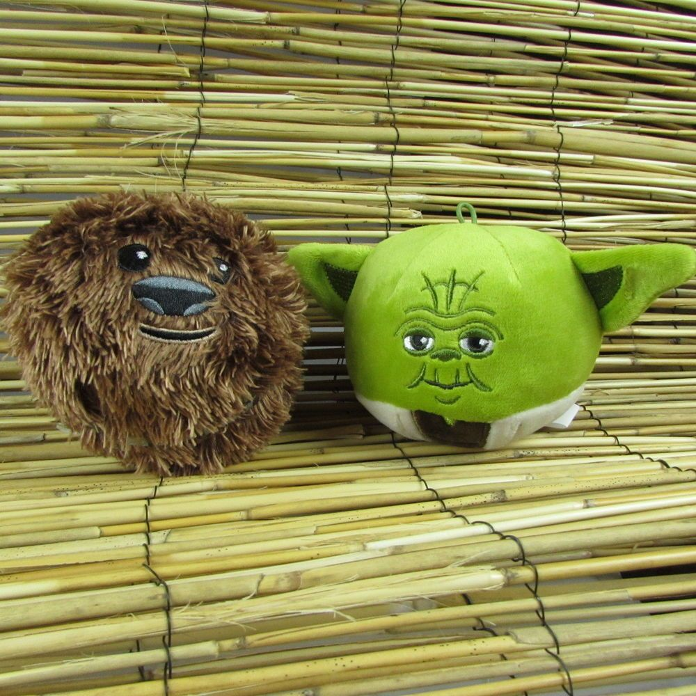 hallmark fluffballs star wars yoda chewbacca 4 christmas ornament plush toy - Chewbacca Christmas Ornament