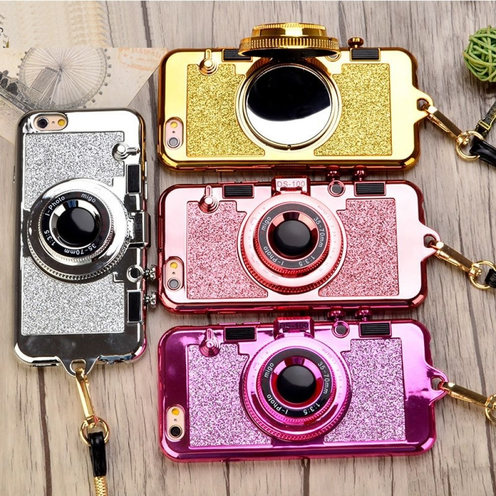 sneakers for cheap b5b98 57142 Camera Shaped Glitter iPhone Cases with Mirror in 2019 | iPhone ...