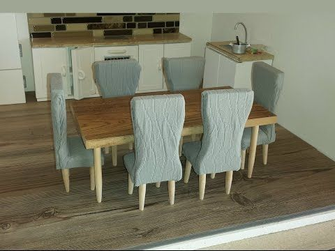 Tutorial Miniature Dining Table Set Reduce Size For 1 12th Scale Kitchen Table Settings Dollhouse Dining Room Barbie Furniture Tutorial