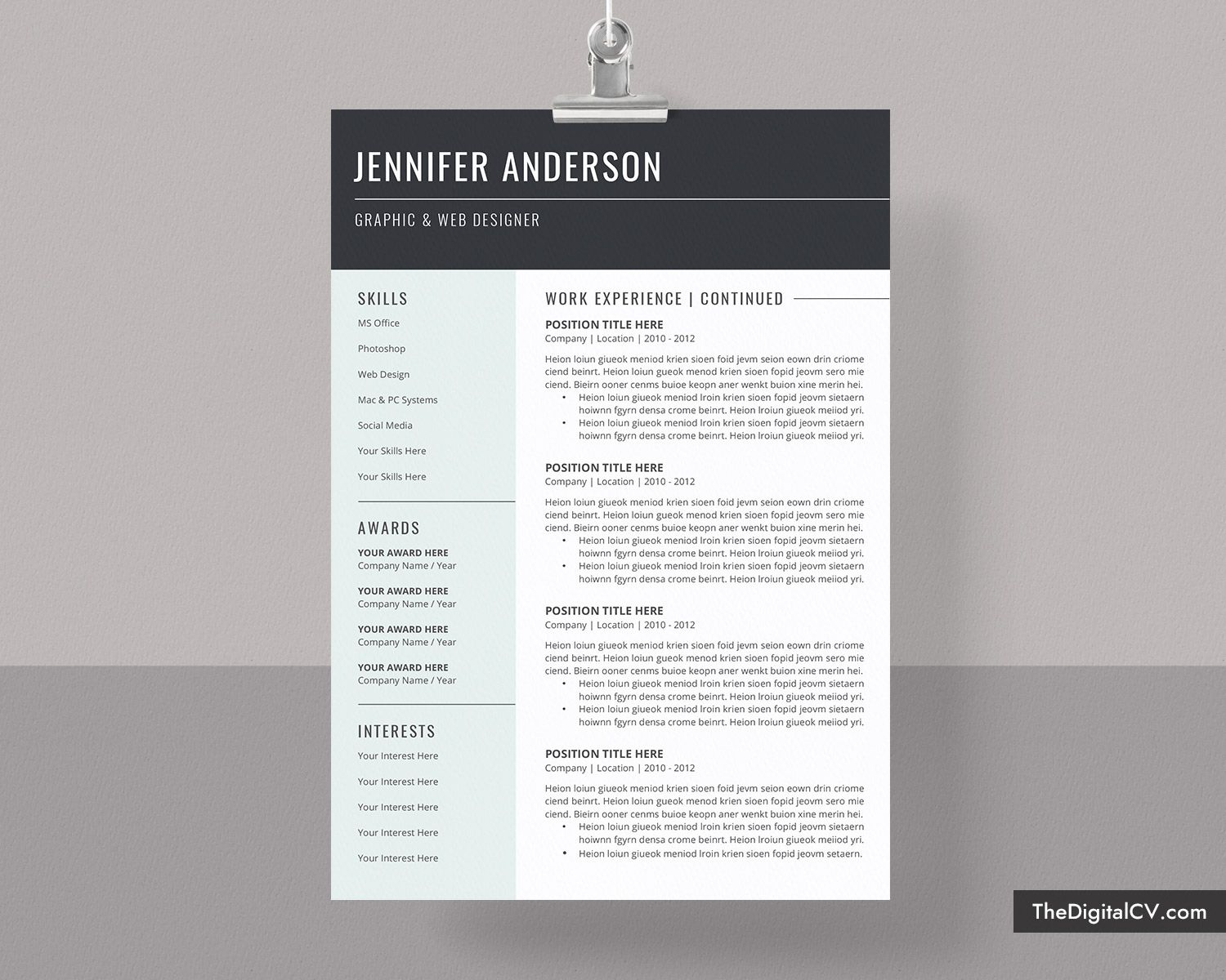 Basic And Simple Resume Template 20202021, Cv Template