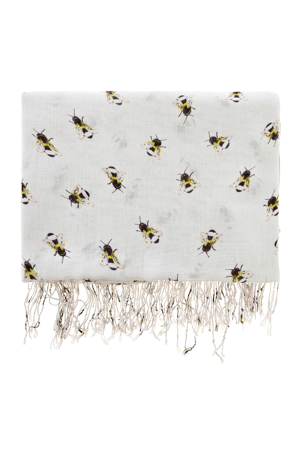 Warehouse Scarves | NEUTRAL PRINT BUMBLE BEE PRINT SCARF ...