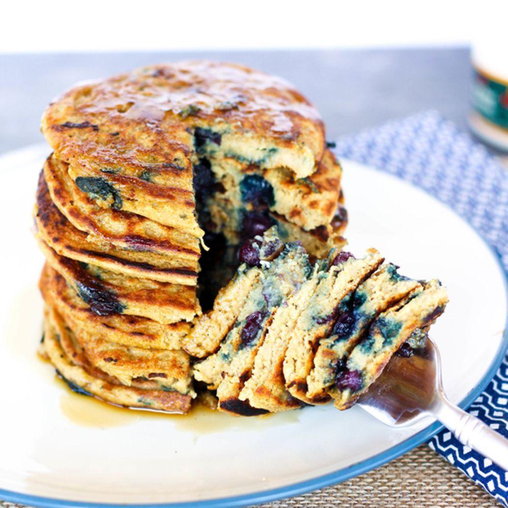 Gluten Free Vegan Protein Pancakes Recipe On Food52 Recipe Vegan Protein Pancakes Vegan Protein Protein Pancakes