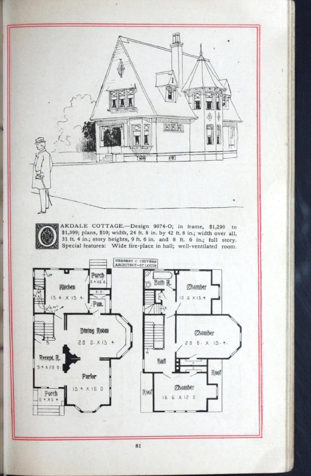Artistic Homes Herbert C Chivers Architect In 2020 Vintage House Plans How To Plan Arch House