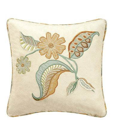 Another great find on #zulily! Henley Spa Embroidered Pillow #zulilyfinds