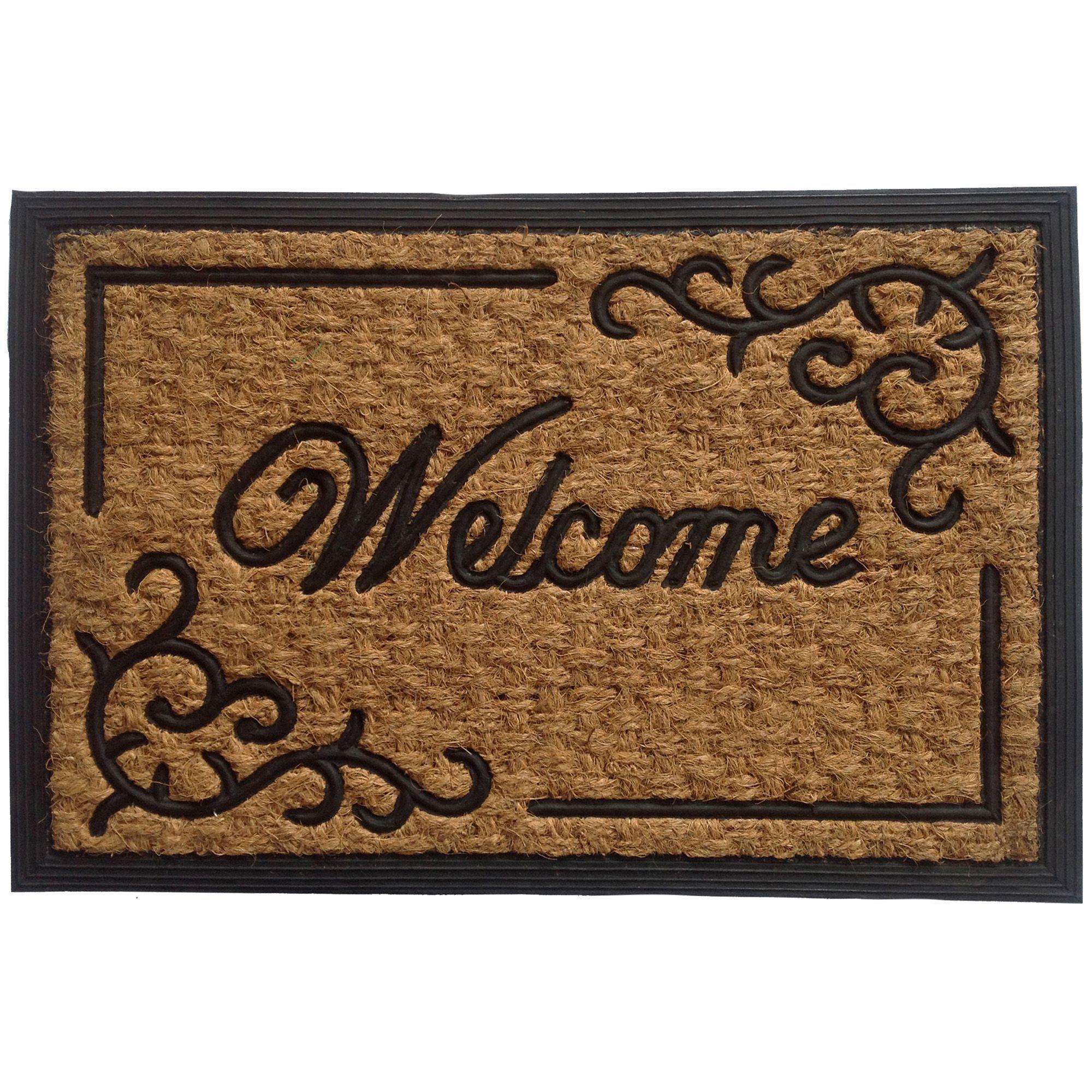 B\u0026Q Beige \u0026 Black Coir \u0026 Rubber Door Mat (L)400mm (W)  sc 1 st  Pinterest & B\u0026Q Black \u0026 Natural Coir \u0026 Rubber Door Mat (L)400mm (W)400mm ...