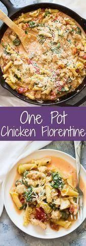 Photo of A pot of chicken Florentine pasta – is ready in 30 minutes. …