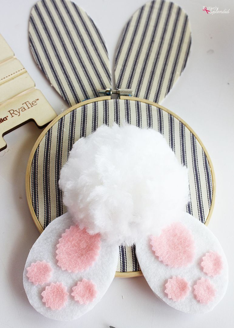 Photo of #Easter Crafts Embroidery Hoop Bunny Easter Wreath – Easy DIY Easter Crafts!