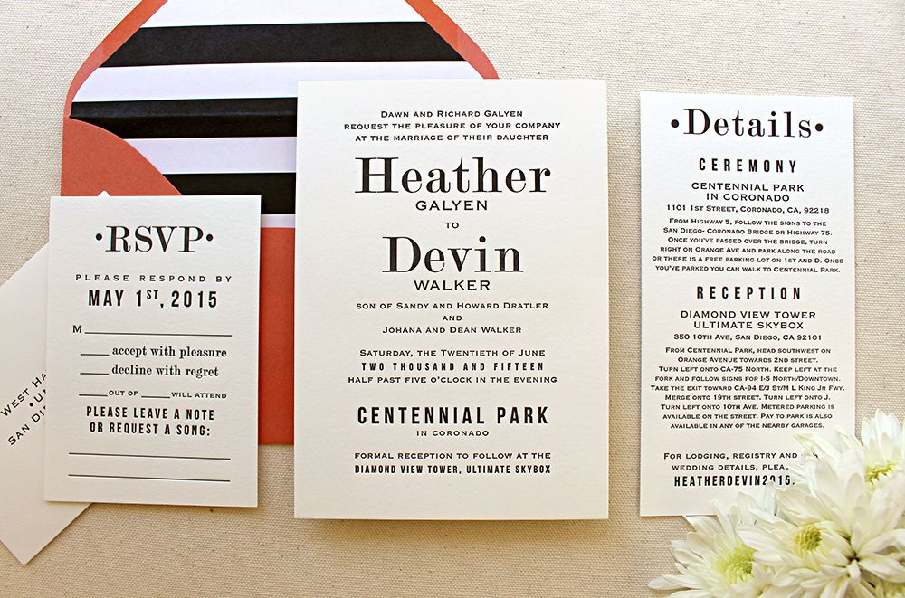 500 best Letterpress Wedding Invitations images on Pinterest ...