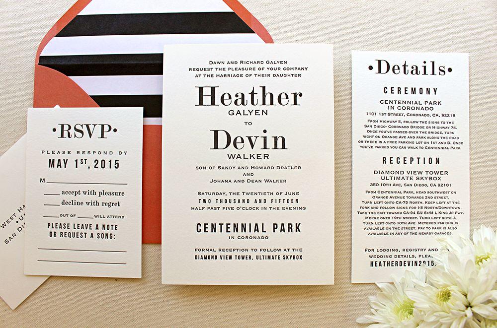 500 Best Letterpress Wedding Invitations Images On Pinterest Color Scheme Colors And Bridal