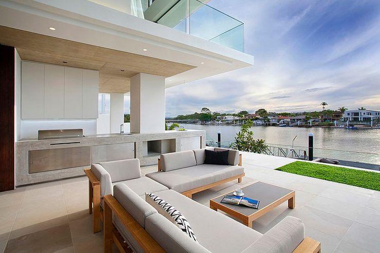 Maison moderne australienne pour une famille moderne for Jardin contemporain moderne