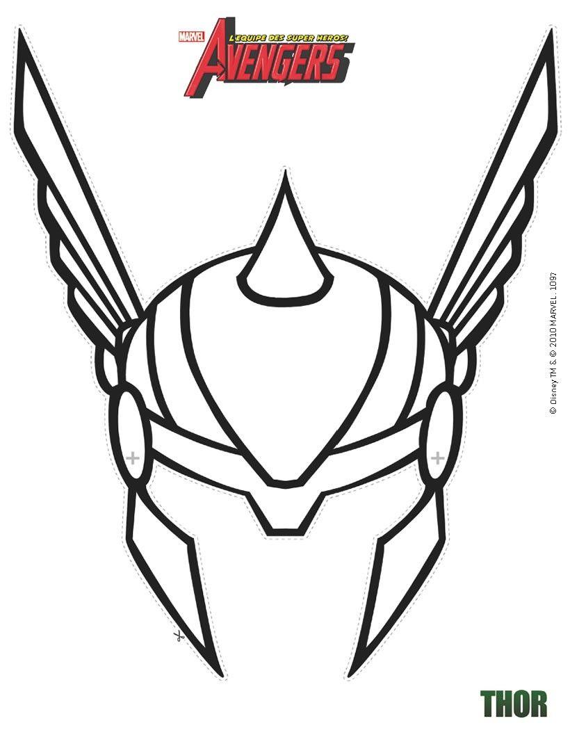 Masque imprimer masque de thor d couper d coration - Masque de super heros a imprimer ...