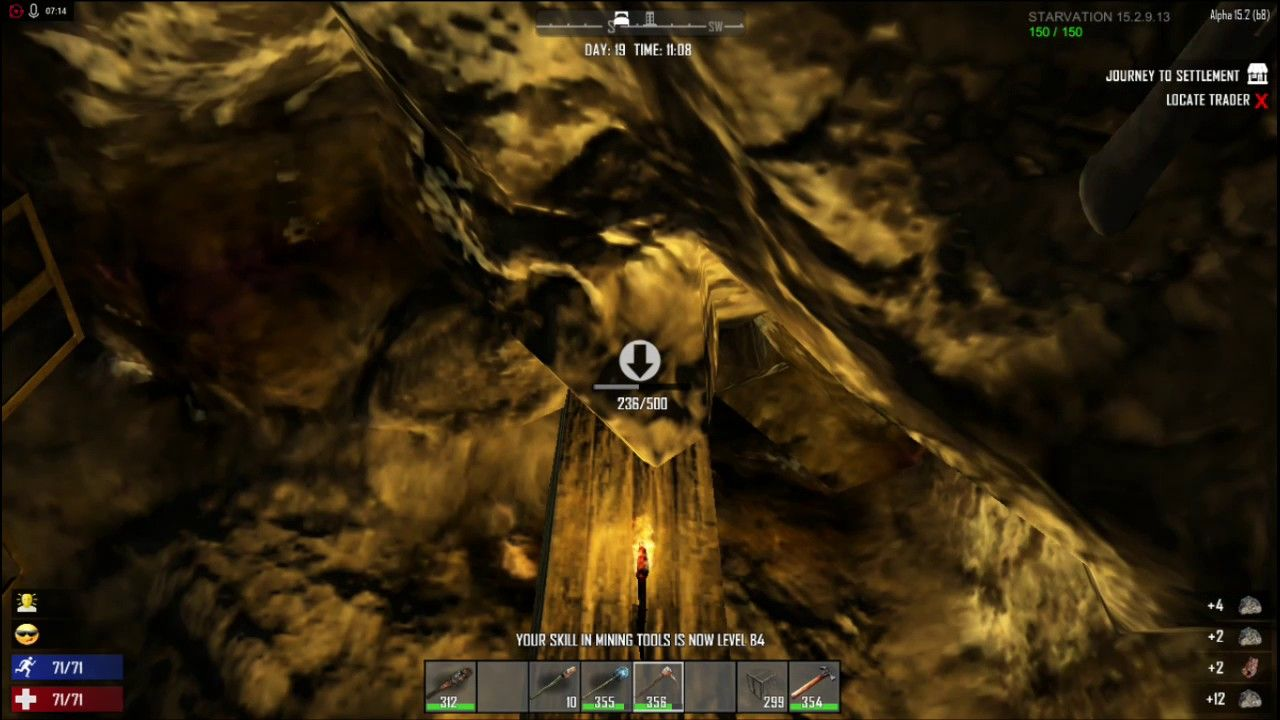 Day 19 Big Forge And Mining 7 Days To Die Alpha 15 Sp Starvation