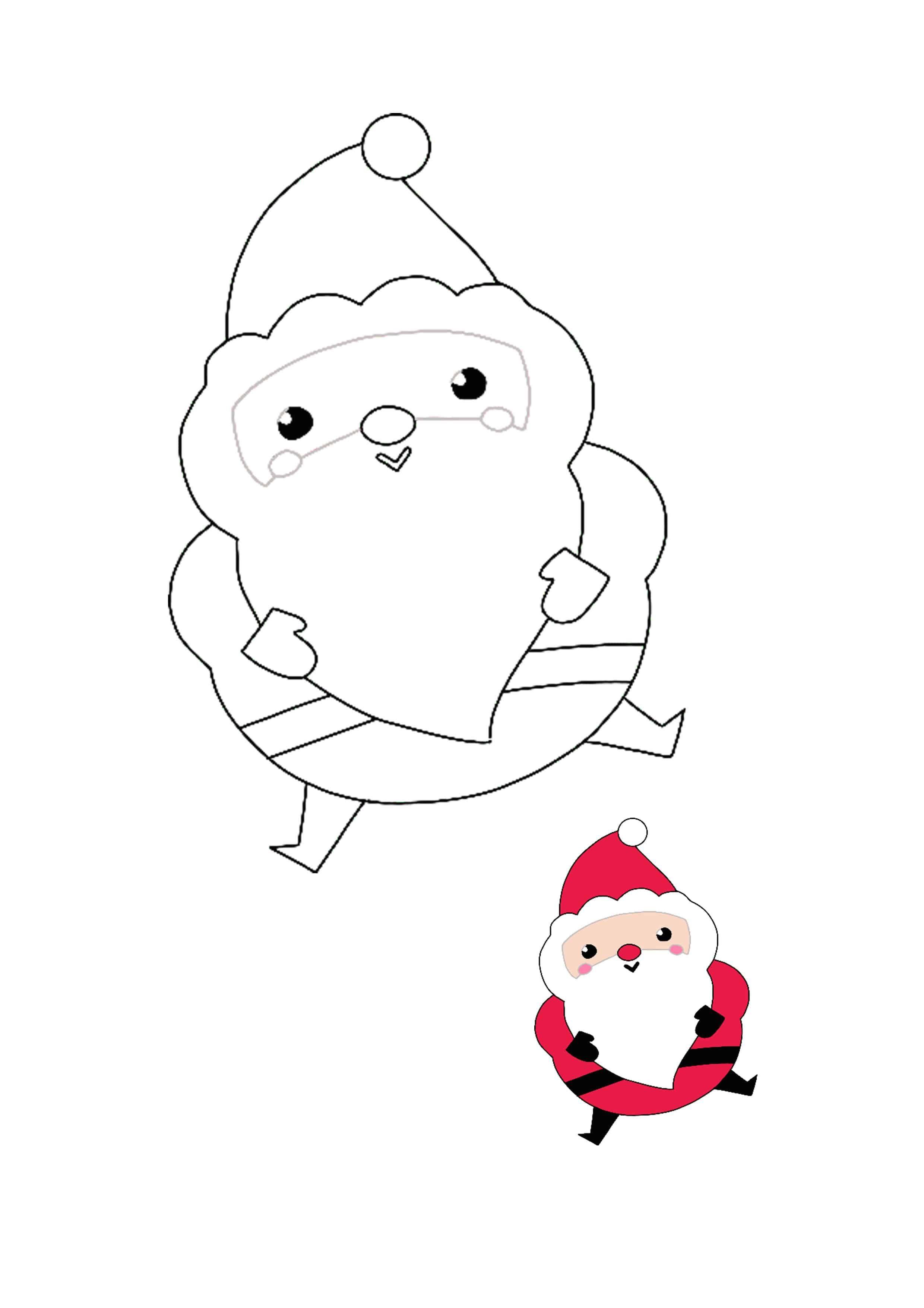 Kawaii Christmas Santa Coloring Picture Free Printable Coloring Sheets Free Printable Coloring Kawaii Christmas