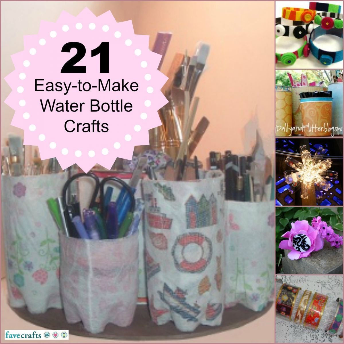 Water Bottle Projects: 34 Easy To Make Water Bottle Crafts