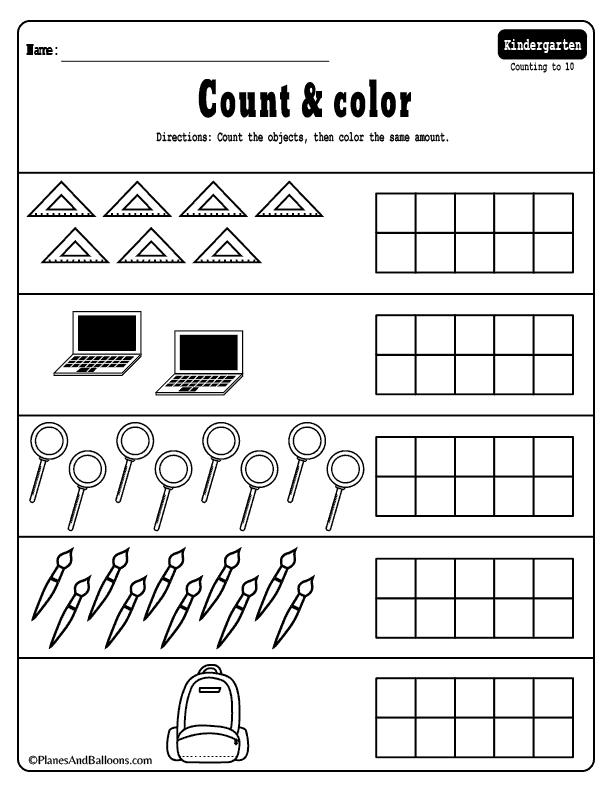 Subtraction Worksheets Kindergarten Pdf