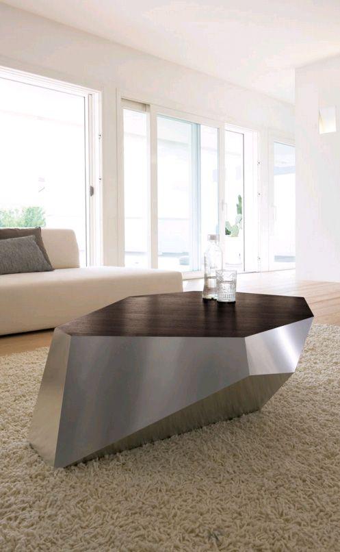 Antonello Italia Diamante Wooden Coffee Table Living Room Furniture Ultra Modern Contemporary Living Room Furniture Coffee Table Design Coffee Table