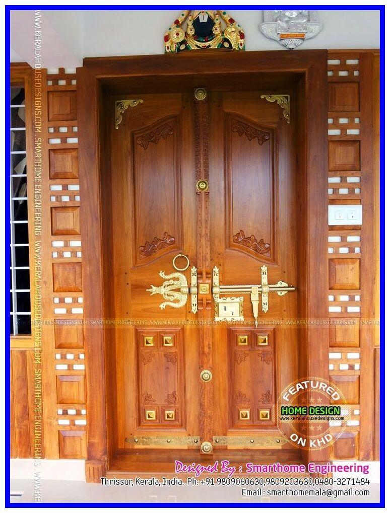 33 Reference Of Double Door House Antique Style Kerala In 2020 Double Door Design Wooden Main Door Design House Front Door Design