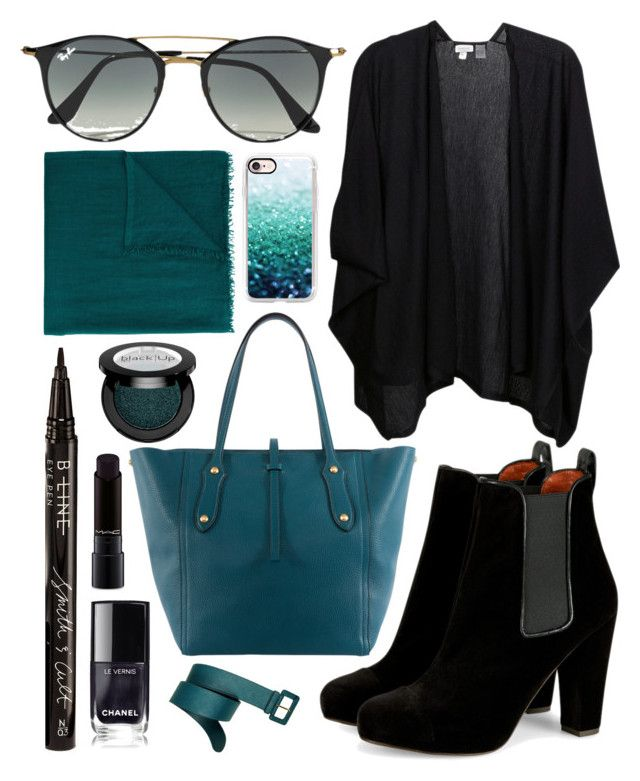 """""""Teal"""" by lauraleeanne ❤ liked on Polyvore featuring Annabel Ingall, Kinross, Ray-Ban, Casetify, Faliero Sarti, Smith & Cult, MAC Cosmetics and Prada"""