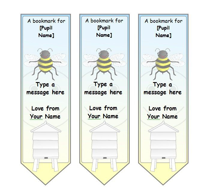 bookmark printing template - bookmark template 03 education ideas pinterest