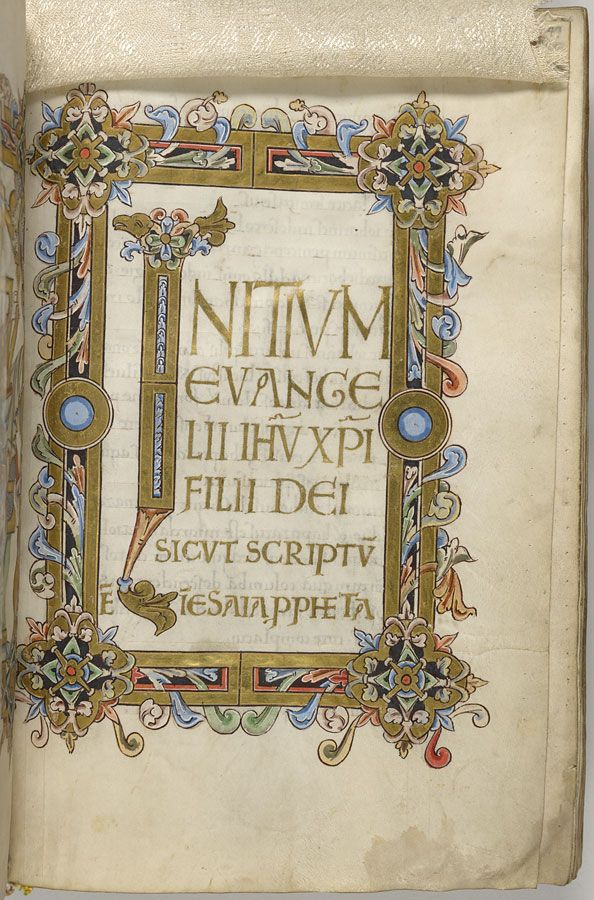 Gospel Book, MS M 709 fol  49r - Images from Medieval and