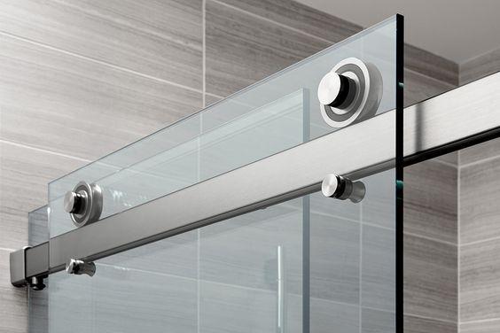 The Rorik Frameless Glass Sliding Door Shower System Features